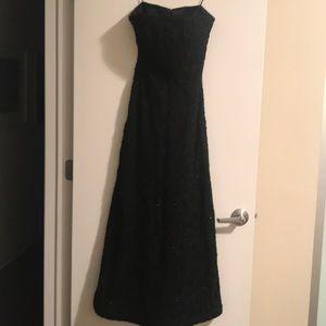 Black Strapless Gown